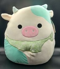"""Brand New 16"""" Squishmallows Belana Cow Easter 2021 New With Tags 201632"""