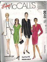 8048 UNCUT Vintage McCalls Sewing Pattern Misses V Front Dress Jacket Easy OOP