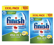 Finish All in One Deep Clean Dishwasher Tablets, Lemon Sparkle - 200 Tablets