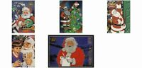 (5) NFL Santa Claus Trading Card Lot