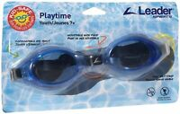 Leader Sports Swim Goggles, Playtime Youth, Ages 7+ (Blue) - Free Shipping