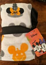 Disney Halloween Mickey & Minnie Mouse 2 pack White Hand Towel 16x28 in NWT