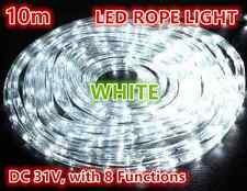 10M 240 LEDs Rope Lights white 8 Functions Outdoor Christams Wedding Party