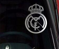 🔥 2 UNITS REAL MADRID Chrome Vinyl Decal Car Truck Window STICKER Soccer Futbol