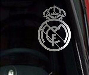 ⚽ SET of 2 Real Madrid Chrome Vinyl Decal Car Truck Window Sticker Soccer Futbol