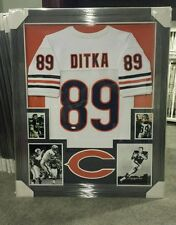 MIKE DITKA CHICAGO BEARS AUTOGRAPHED JERSEY CUSTOM FRAMED. JSA COA.