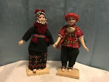 vintage pair of Asian porcelain dolls.