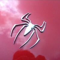 3x Car Sticker 3D Chrome Metal Golden//Silver Spider Spiderman Badge Emblem Decal