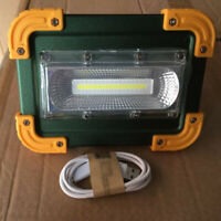 USB Rechargeable 30W LED Portable Flood Spot Working Light Camping Lamp Aluminum