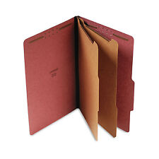 UNIVERSAL Pressboard Classification Folder Legal Six-Section Red 10/Box 10280