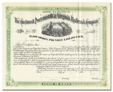 Cincinnati, Portsmouth & Virginia Railroad Company Stock Certificate