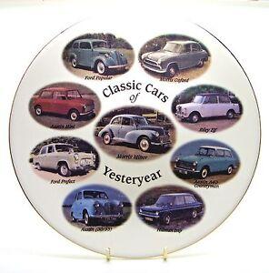 ~-~ Classic Cars of Yesteryear ~ Bone China Plate