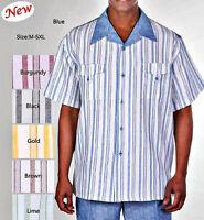 Men's Summer 2pc Leisure Suit (short sleeve shirt&pants)Casual Walking Suit#2956