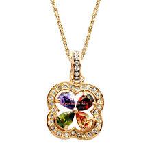 collana da donna cristallo swarovski elements quadrifoglio multicolore W99