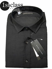 Polo Ralph Lauren camisa Sloan 18 45made in Italy Oxford gris oscuro