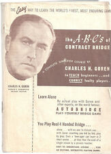 THE A.B.C.'S OF CONTRACT BRIDGE by Charles Goren AUTOBRIDGE PLAY-YOURSELF GAME