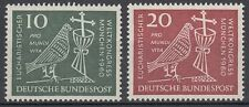Germany Bund BRD 1960 Mi 330/31 ** Eucharistie Taube Kelch Kreuz Dove Cross