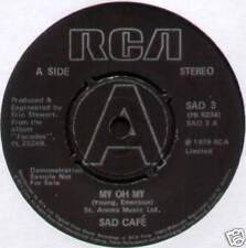 "SAD CAFE ~ MY OH MY / COTTAGE LOVE ~ 1979 UK ""DEMO"" 7"" SINGLE [Ref.2]"