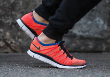 NIKE FREE FLYKNIT NSW Running Trainers Shoes Gym Casual - UK 7.5 (EU 42) Crimson