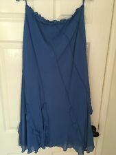 long tall sally 12, Blue, Silk Skirt