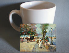 Fine quality country french miniature artwork Paris stree - great for dollhouse