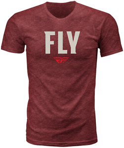 Fly Racing WFH Tee - Red Heather / Large