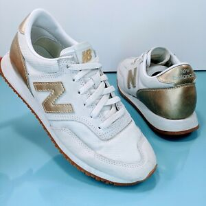 NEW BALANCE 620 Retro for J.Crew White Suede Gold Salt Women's Size 7 CW620JD2