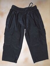 NWOT Bal Togs Black Cargo Drawstring Pants Style Child 6X-7 Nylon Lycra
