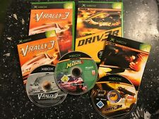 3 PAL ORIGINAL XBOX race JEUX V-RALLY 3 + DRIV 3R (driver 3) & MIDTOWN MADNESS 3