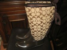 Brown/Tan Tristee Coach Rain boots Size 7M CC LOGO GREAT BUY!!