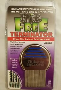 NEW Nit Free Brand Terminator Comb Head Lice Stainless Steel uni-sex Essential