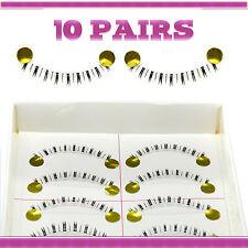 10 Pairs Natural Makeup False Eyelashes Handmade Short Black Eye Lashes 029