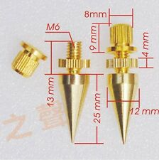 4pcs Gilded Copper Speaker Spike Cone Isolation Spike Stand Foot AMP Spike