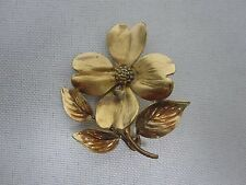 LOVELY VINTAGE HARRY S. BICK HSB 12K GF DOGWOOD BLOSSOM FLOWER BROOCH PIN