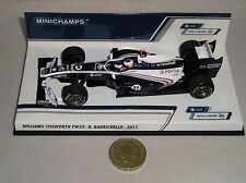Minichamps WILLIAMS 410110011 FW33 voiture de formule 1 2011 BARRICHELLO 1:43