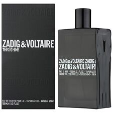 This is Him Zadig & Voltaire 3.4 oz 100 ml EDT Spray For Men New In Box 2016