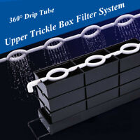 Aquarium External Filter Trickle Rain Drop Upper Fish Tank Water Box + Drip  UK