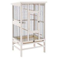 Bird Aviary For Small Birds Wooden Metal Mesh 3 Doors 2 Bowls 5 Perches Tray