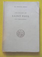 La Bible Les Epitres de Saint Paul aux Corintiens Editions du Cerf 1953
