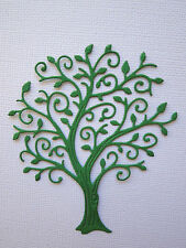 Tree Paper Die Cuts x 6 Scrapbooking Card Topper Embellishment