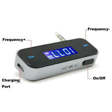 Wireless 3.5mm FM Transmitter w/ LCD For MP3 iPod iPhone Cell Phone Handsfree