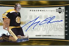 2005-06 UPPER DECK TRILOGY PERSONAL SCRIPTS GERRY CHEEVERS AUTOGRAPH
