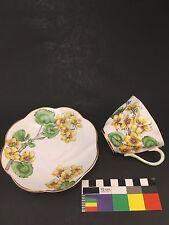 Vintage Salisbury Bone China Teacup & Saucer Pattern #1758 GERANIUM From England