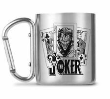 OFFICIAL DC COMICS THE JOKER CARABINER CLIP HANDLE METAL COFFEE MUG CUP
