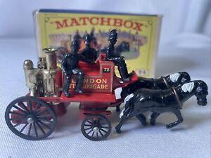 MATCHBOX LESNEY Models of Yesteryear Y-4 Shand Mason Horse Drawn Fire Engine