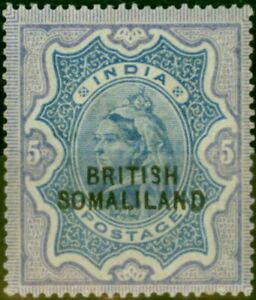 Somaliland 1903 5R Ultramarine & Violet SG24 Fine Mtd Mint