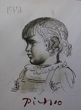 PABLO PICASSO Portrait d'Enfant 1982 Marina Picasso Art Collection Lithograph