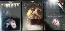 The Blair Witch Project! Book Of Shadows: Blair Witch 2! Bogus Witch! 3 Dvds!