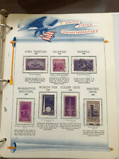 Us Stamp Lot #1 - White Ace Historical Album - Commemoratives - assorted