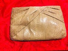 Vintage Aspects Teal/Blue Snake Skin Clutch Handbag Purse Cool Moss Green